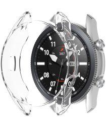 Samsung Galaxy Watch 3 45MM Hoesje Flexibel TPU Bumper Transparant