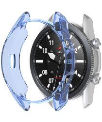 Samsung Galaxy Watch 3 45MM Hoesje Flexibel TPU Bumper Blauw