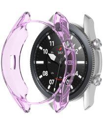 Samsung Galaxy Watch 3 45MM Hoesje Flexibel TPU Bumper Paars