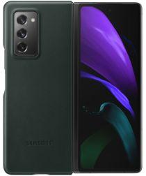 Origineel Samsung Galaxy Z Fold 2 Hoesje Leather Cover Groen