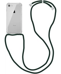 Apple iPhone SE (2020) / 8 Hoesje Back Cover met Koord Zwart