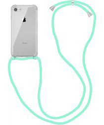 Apple iPhone SE (2020) / 8 Hoesje Back Cover met Koord Mint Groen
