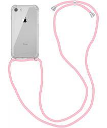 Apple iPhone SE (2020) / 8 Hoesje Back Cover met Koord Roze