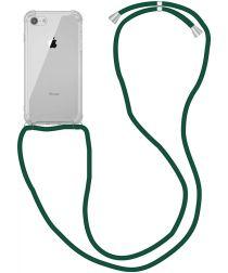 Apple iPhone SE (2020) / 8 Hoesje Back Cover met Koord Donker Groen