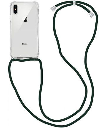 Apple iPhone XS / X Hoesje Back Cover met Koord Zwart Hoesjes