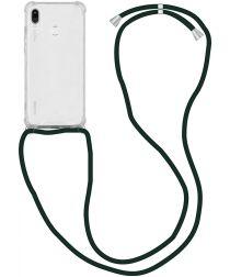 Huawei P20 Lite Hoesje Back Cover met Koord Zwart