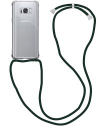 Samsung Galaxy S8 Hoesje Back Cover met Koord Zwart