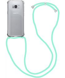 Samsung Galaxy S8 Hoesje Back Cover met Koord Mint Groen