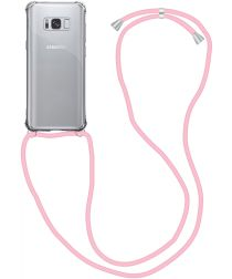 Samsung Galaxy S8 Hoesje Back Cover met Koord Roze