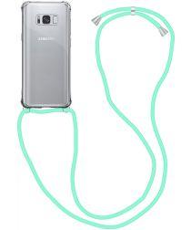 Samsung Galaxy S9 Hoesje Back Cover met Koord Mint Groen