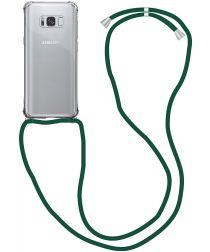 Samsung Galaxy S9 Hoesje Back Cover met Koord Donker Groen