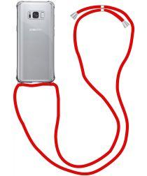 Samsung Galaxy S9 Hoesje Back Cover met Koord Rood