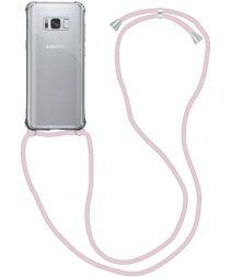 Samsung Galaxy S9 Hoesje Back Cover met Koord Roze Goud