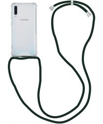 Samsung Galaxy A50 Hoesje Back Cover met Koord Zwart