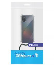 Samsung Galaxy A41 Hoesje Back Cover met Koord Zwart
