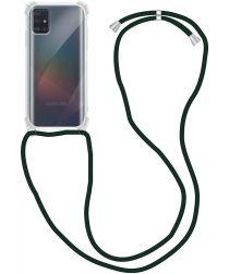 Samsung Galaxy A51 Hoesje Back Cover met Koord Zwart