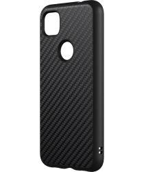 RhinoShield SolidSuit Google Pixel 4a Hoesje Carbon Fiber