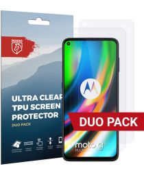 Rosso Motorola Moto G9 Plus Ultra Clear Screen Protector Duo Pack