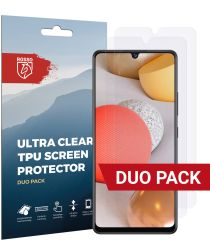 Rosso Samsung Galaxy A42 Ultra Clear Screen Protector Duo Pack