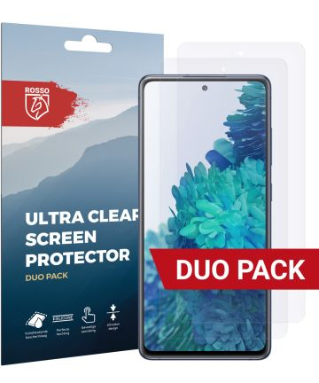 Rosso Samsung Galaxy S20 FE Screenprotector Ultra Clear Folie Duo Pack Screen Protectors