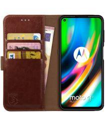 Rosso Element Motorola Moto G9 Plus Hoesje Book Cover Bruin
