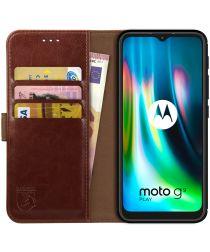Rosso Element Motorola Moto G9 Play / E7 Plus Hoesje Book Cover Bruin
