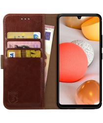 Rosso Element Samsung Galaxy A42 5G Hoesje Book Cover Bruin