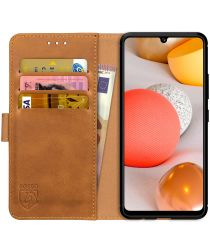 Rosso Element Samsung Galaxy A42 5G Hoesje Book Cover Lichtbruin