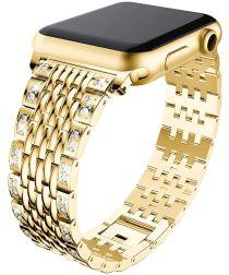 Apple Watch 40MM / 38MM Bandje Roestvrij Staal met Diamantjes Goud