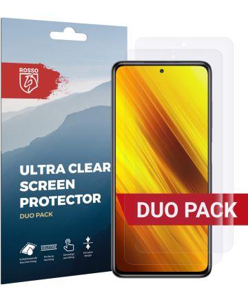 Rosso Xiaomi Poco X3/X3 Pro Screenprotector Ultra Clear Folie Duo Pack Screen Protectors