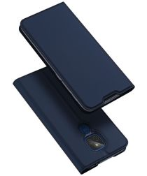 Dux Ducis Skin Pro Series Motorola Moto E7 Plus Flip Hoesje Blauw