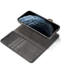 DG Ming iPhone 12 / 12 Pro Hoesje 2-in-1 Book Case en Back Cover Zwart