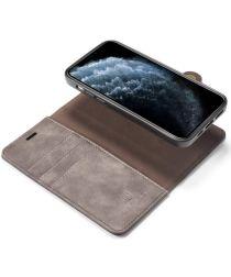 DG Ming iPhone 12 / 12 Pro Hoesje 2-in-1 Book Case en Back Cover Grijs