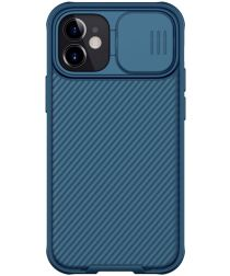 Nillkin CamShield Apple iPhone 12 Mini Hoesje met Camera Slider Blauw