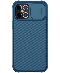 Nillkin CamShield Apple iPhone 12 Pro Max Hoesje Camera Slider Blauw