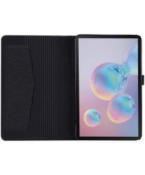 Samsung Galaxy Tab A 8.4 (2020) Stoffen Tri-Fold Hoes Zwart