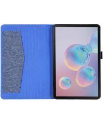 Samsung Galaxy Tab A 8.4 (2020) Stoffen Tri-Fold Hoes Blauw