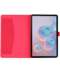 Samsung Galaxy Tab A 8.4 (2020) Stoffen Tri-Fold Hoes Rood