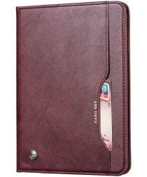 Samsung Galaxy Tab A 8.4 (2020) Portemonnee Tri-Fold Hoes Donker Rood