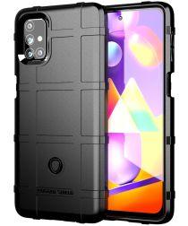 Samsung Galaxy M31s Hoesje Shock Proof Rugged Shield Zwart
