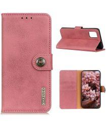 Samsung Galaxy S20 FE Hoesje Vintage Wallet Book Case Roze