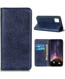 Samsung Galaxy S20 FE Crazy Horse Leather Wallet Case Blauw