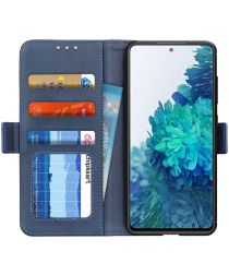 Samsung Galaxy S20 FE Hoesje Wallet Book Case Blauw