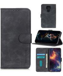 Motorola Moto G9 Play / Moto E7 Plus Hoesje Vintage Wallet Zwart