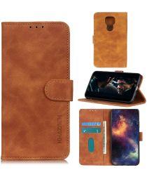 Motorola Moto G9 Play / Moto E7 Plus Hoesje Vintage Wallet Bruin