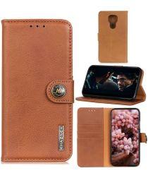 Motorola Moto G9 Play / Moto E7 Plus Hoesje Portemonnee Vintage Bruin