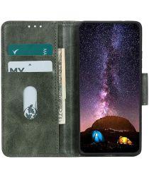 Xiaomi Redmi 9C Portemonnee Stand Hoesje Crazy Horse Groen