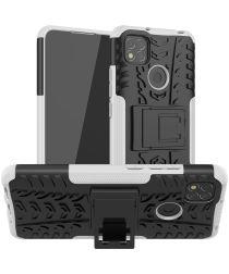 Xiaomi Redmi 9C Robuust Hybride Hoesje Wit