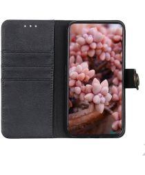 Google Pixel 4A 5G Hoesje Portemonnee met Drukknoop Sluiting Zwart