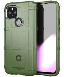 Google Pixel 5 Hoesje Shock Proof Rugged Shield Groen